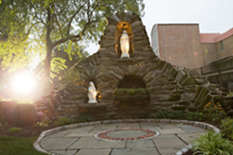 Photo of grotto on campus
