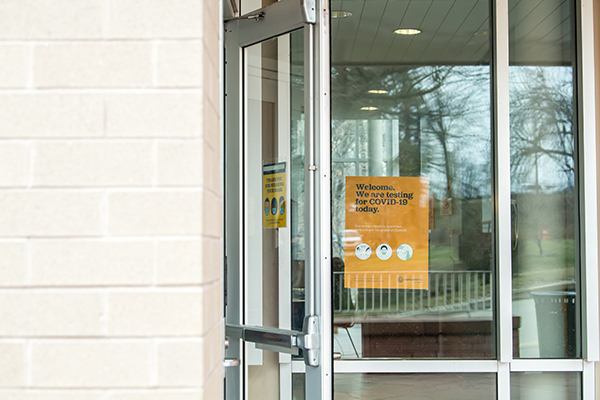 Front door to COVID-19 testing center