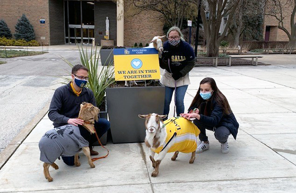 Philly Goat Project visits La Salle