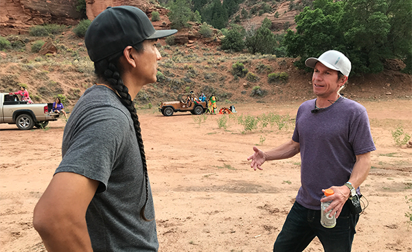 Matt Howley (right), during production of 'Basketball or Nothing' in Apache County, Ariz.