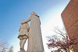 De La Salle Statue on campus