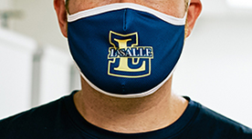 Close up student wearing mask